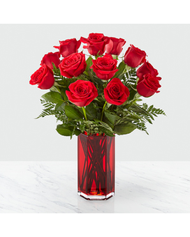 FTD True Romantic Red Rose Bouquet Flower Arrangement