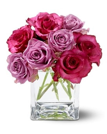 Wild Plum Roses Flower Arrangement
