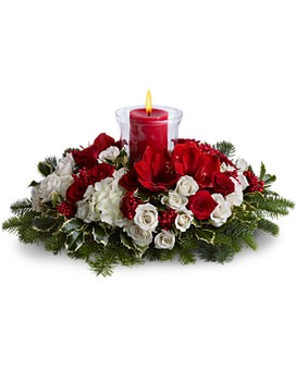 Light up the Holidays Flower Arrangement