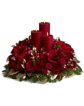 Carols by Candlelight Flower Arrangement