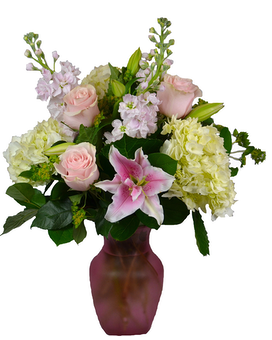 Precious and  Pink Flower Arrangement