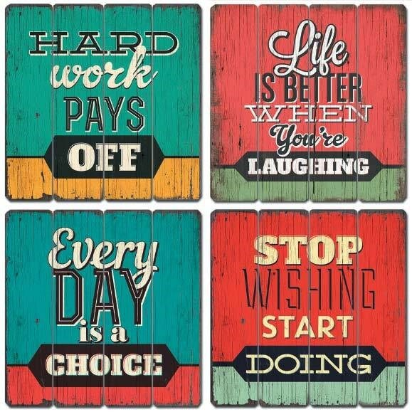 Inspirational quote wall hanging
