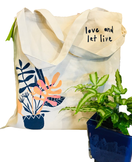 Love & Let Live Tote Bag