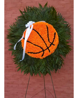 Basketball Flower Arrangement