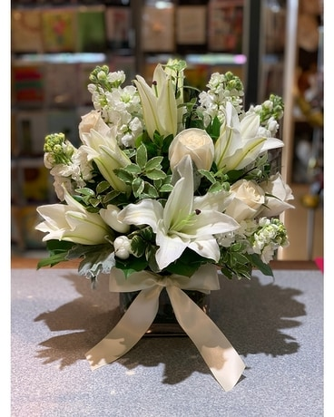 White Winter Bouquet Flower Arrangement