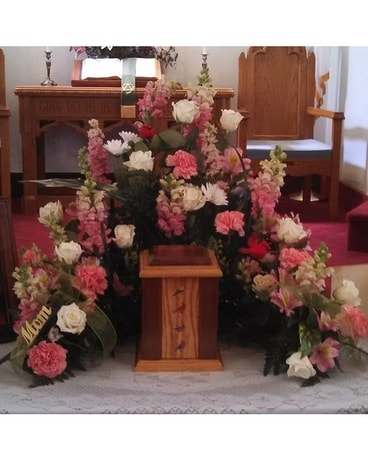 Precious pink tribute Sympathy Arrangement