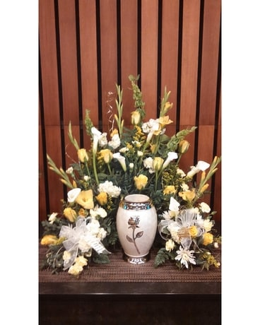 Regal Calla Rose tribute Funeral Arrangement