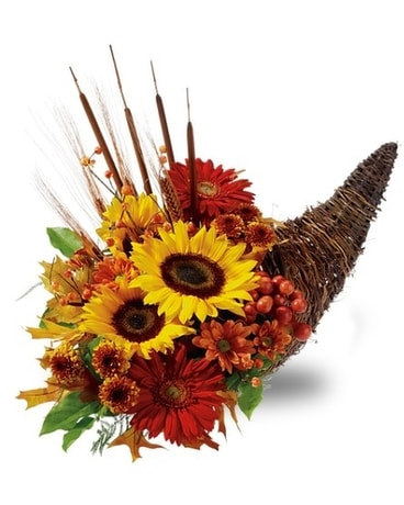 Country Cornucopia Flower Arrangement