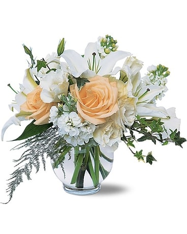 White Roses & Lilies arrangement