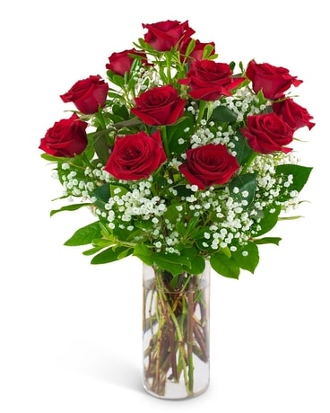 Red Roses and a Million Stars Flower Arrangement