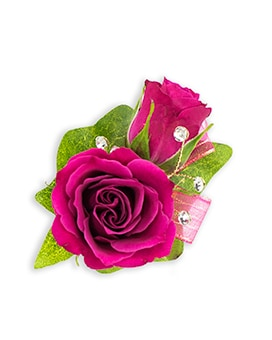 Fuchsia Boutonniere Flower Arrangement