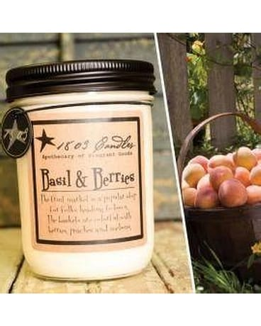 1803 Basil & Berries Jar Candle