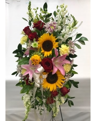 Standing Spray Flower Arrangement
