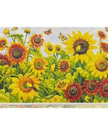 Sunflowers and Goldfinches Birthday Card Gifts