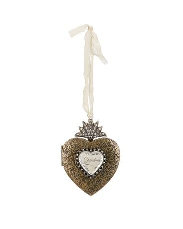 Grandma Heart Locket Ornament Gifts