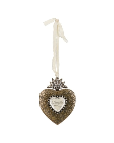 Daughter Heart Locket Ornament Gifts