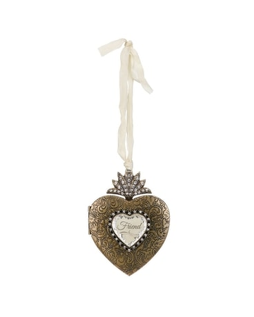 Friend Heart Locket Ornament Gifts