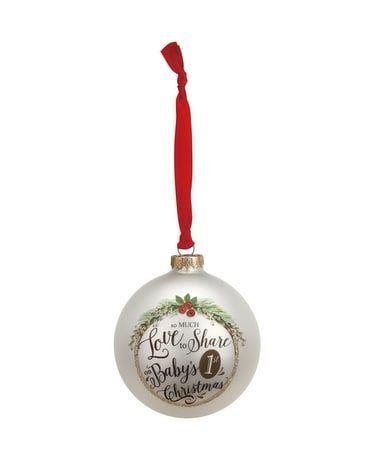 Baby's 1st Christmas Glass Ball Ornament Gifts