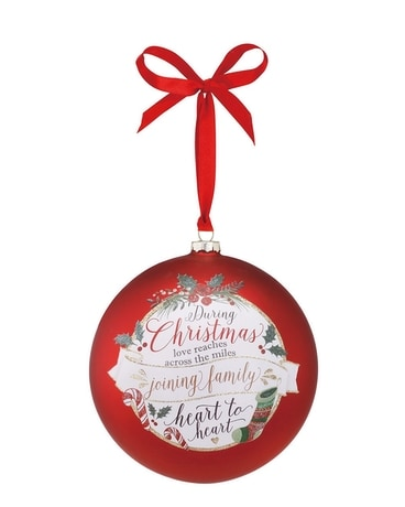 Family Jumbo Glass Ball Ornament Gifts