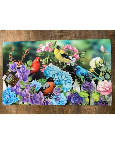 Mat - Colourful Birds and Flowers Gifts