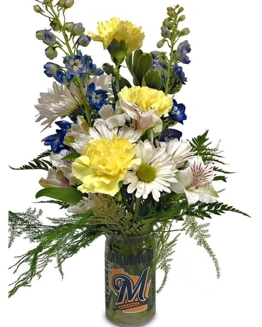 Go Brewers! Flower Arrangement