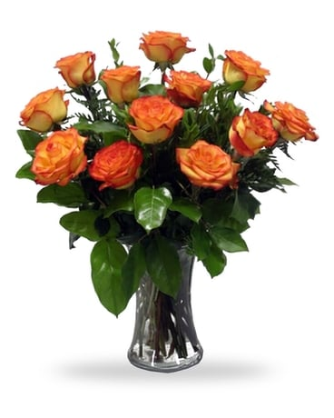 High and Magic Roses Flower Arrangement