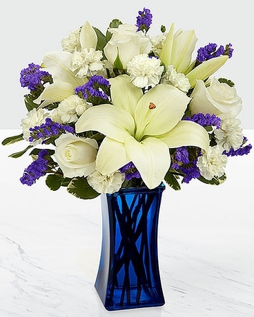 Beyond Blue Bouquet Flower Arrangement