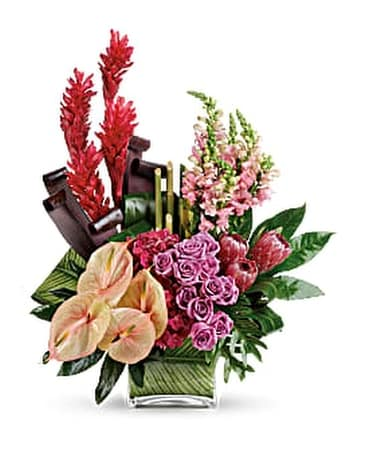 Tahitian Tropics Bouquet PM Flower Arrangement