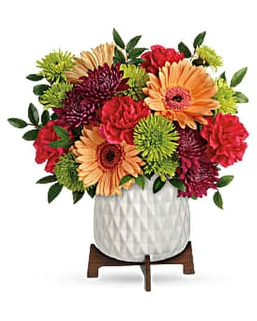 Teleflora's Mid Mod Brights Bouquet Flower Arrangement