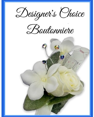 Designer's Choice Boutonniere Flower Arrangement