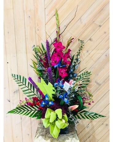 Merrick florist flower delivery by merrick flower shoppe fruiterers its a new day flower arrangement negle Choice Image