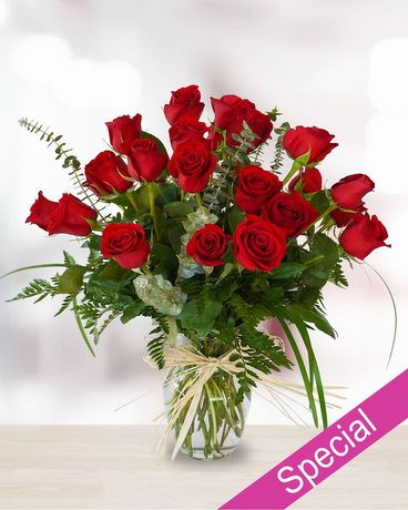 Special - Two Dozen Roses in Vase