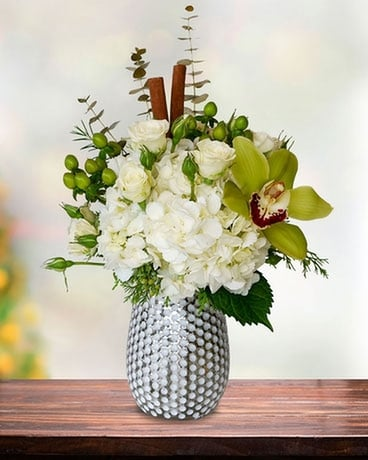 Sassy Snowfall Flower Arrangement
