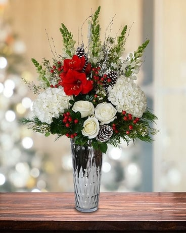 Majestic Holiday Flower Arrangement