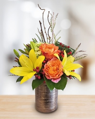 Safari Sunset Flower Arrangement