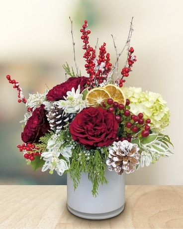Frosty Favorite Flower Arrangement