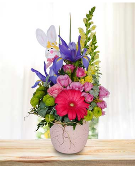 Egg-Cellent Spring Flower Arrangement