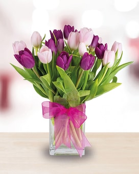 Bunches of Tulips Flower Arrangement