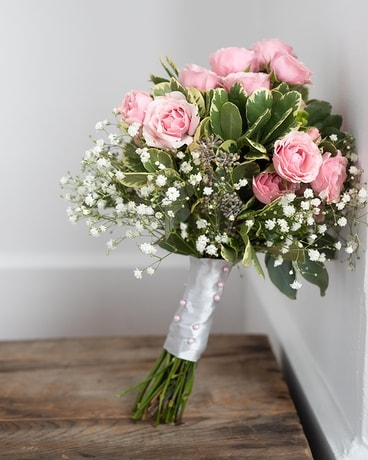 Pink Quartz Rose Bouquet Flower Arrangement