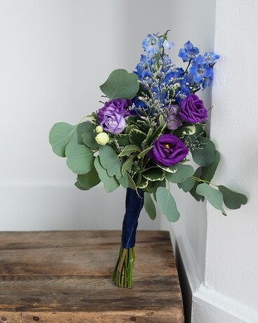 Sapphire and Amethyst Bouquet Flower Arrangement