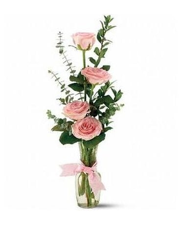Teleflora's Rose Quartet Vase Custom product