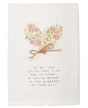 Mother's Sentiment Tea Towel