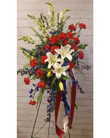 Patriotic Tribute Sympathy Arrangement