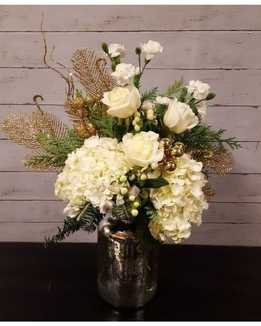 Silver and Gold Flower Arrangement
