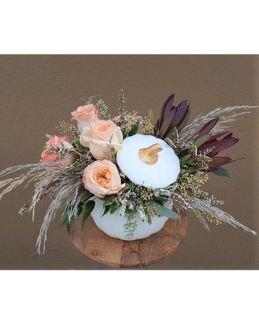 Pumpkin Chic Flower Arrangement