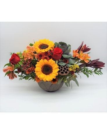 Grateful Gathering Centerpiece Flower Arrangement
