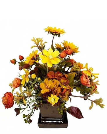 Bronze and Sunflowers Flower Arrangement