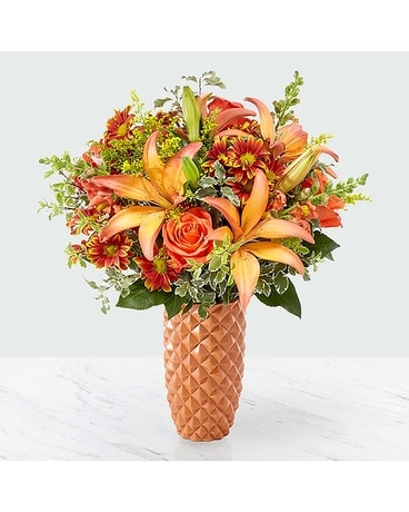 FTD Warm Amber Flower Arrangement