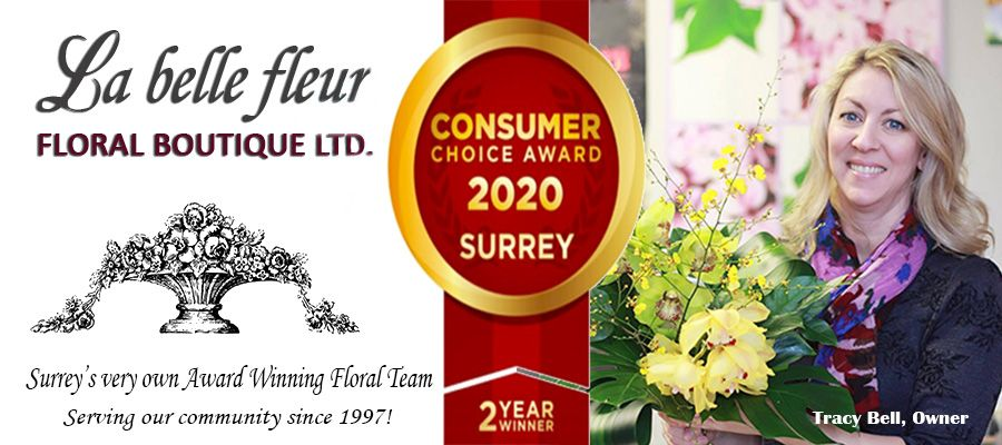 Flower Delivery to Surrey by La Belle Fleur Floral Boutique Ltd.