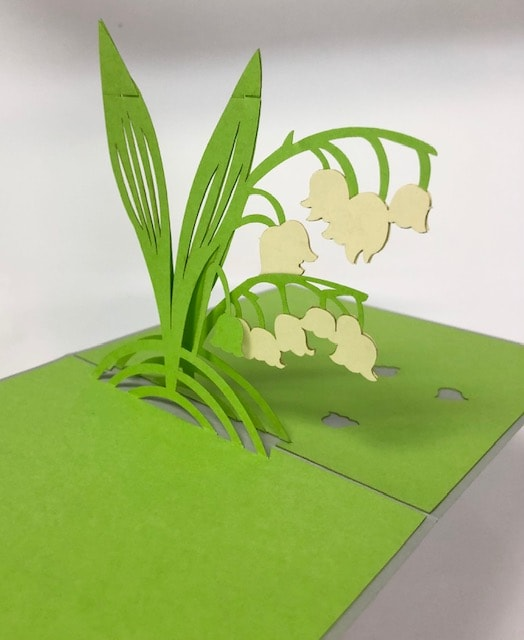 Green 3D greeting card